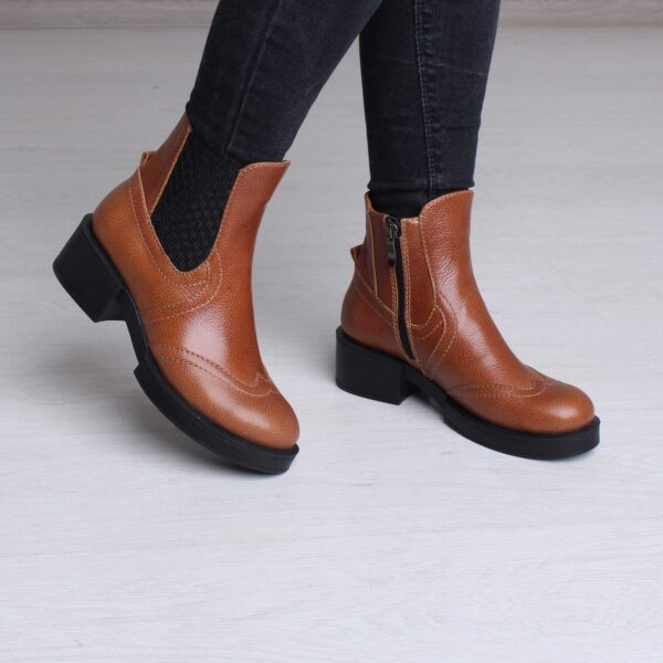 Демисезонные рыжие ботинки | 5899