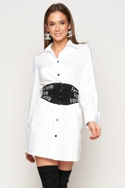 Белая рубашка-туника | 31786