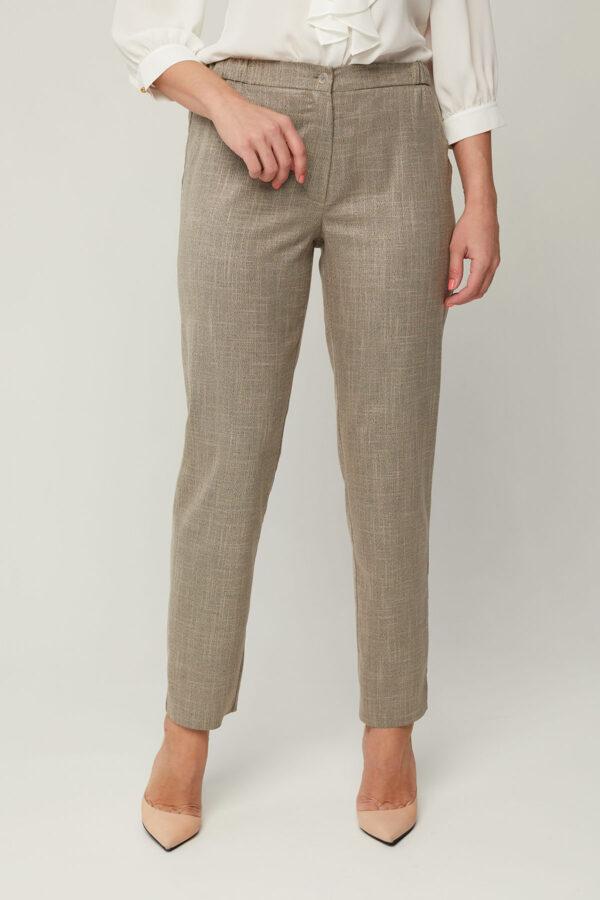 Літні темно-сірі брюки з льону | 46228