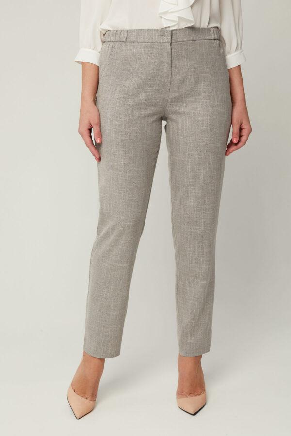Літні сірі брюки з льону | 46239
