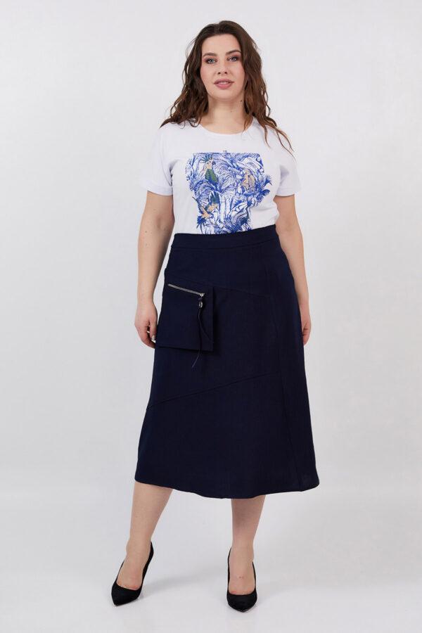 Спідниця Фрезія темно-синя   47740