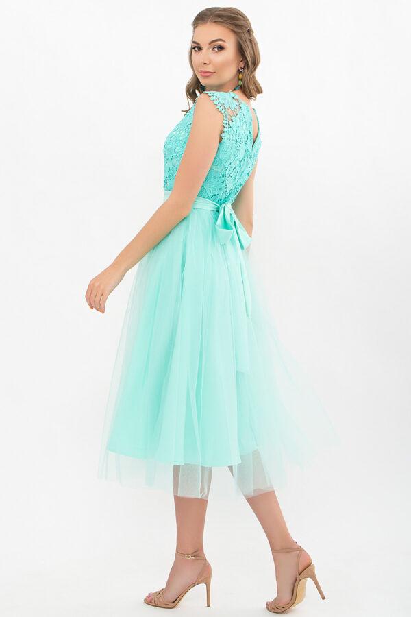 Ментолове плаття з фатиновою спідницею   48570