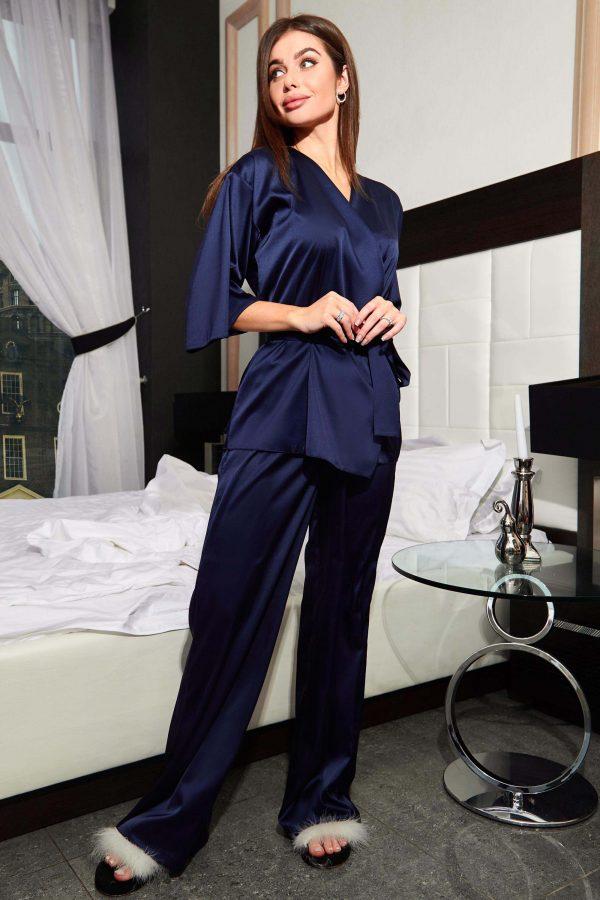 Піжама Ліоне темно-синя з брюками   48299