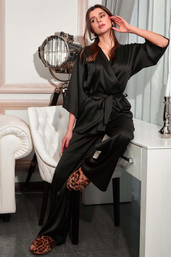 Піжама Ліоне чорна з брюками   48385