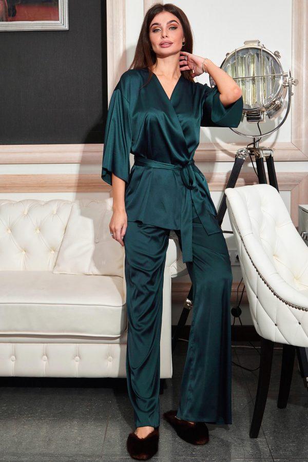 Піжама Ліоне зелена з брюками   48394
