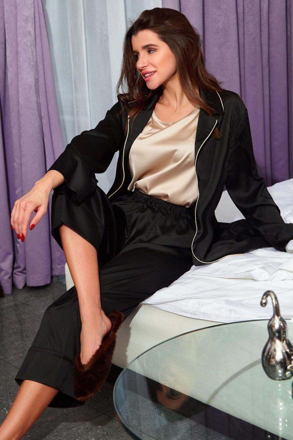 Піжама Бонна чорна з брюками   47918