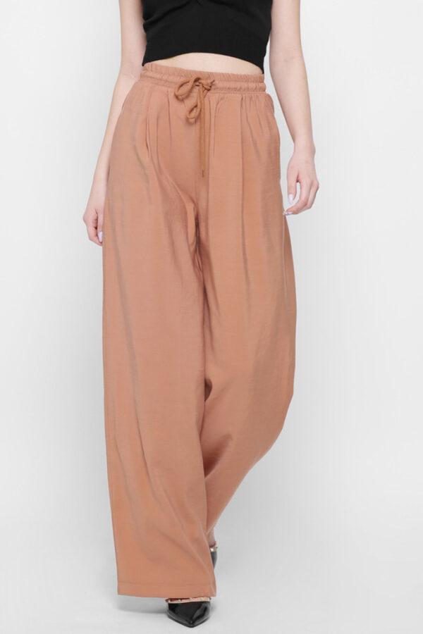 Жіночі брюки палаццо пісок | 48370