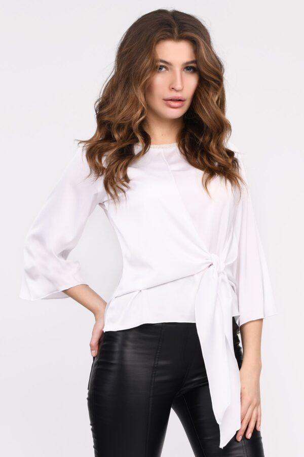 Шовкова біла блузка | 49171