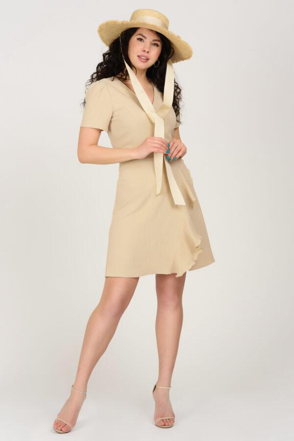 Літня бежева міні-сукня | 49958