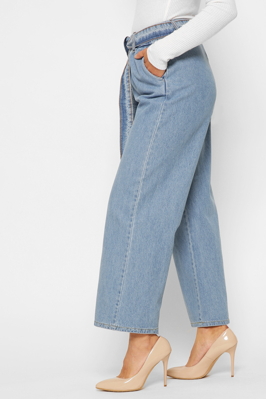 Блакитні широкі джинси   49637