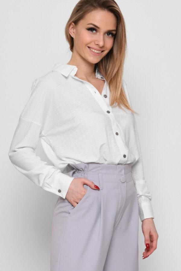 Біла сорочка вільного крою   49587