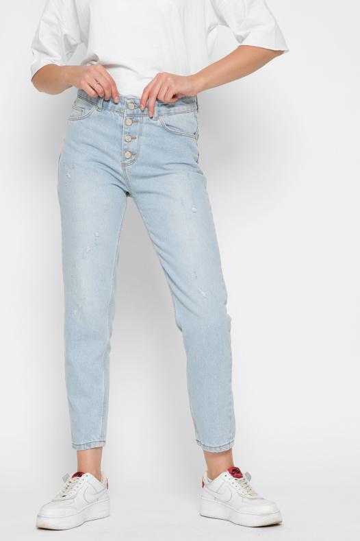 Блакитні джинси Mom | 49606