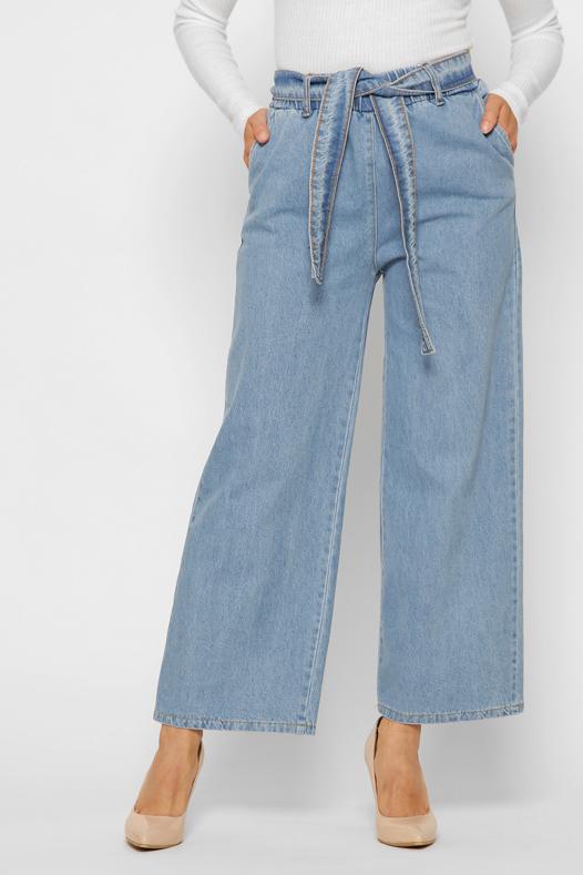 Блакитні широкі джинси | 49637