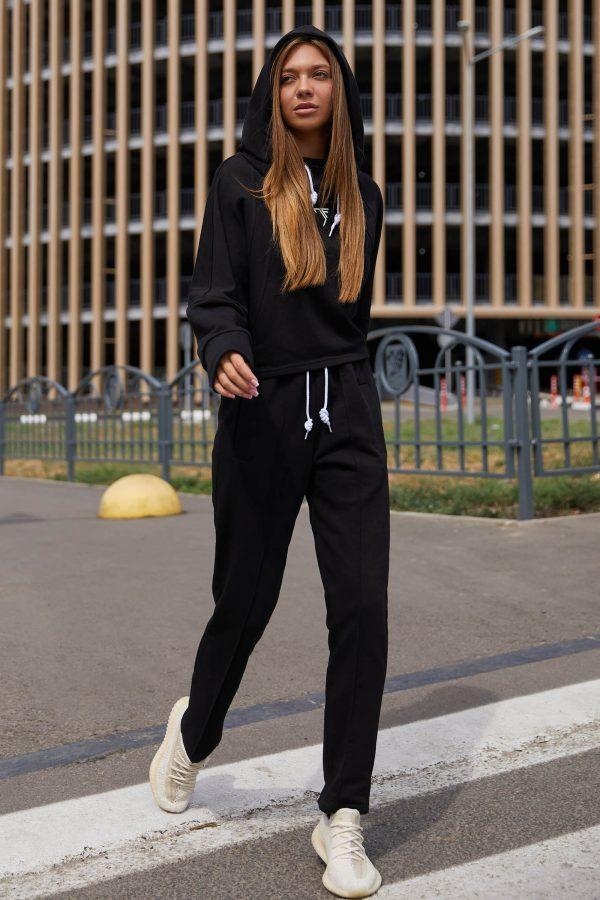Прогулянковий костюм чорний   51304