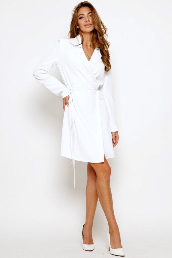 Демісезонна міні-сукня біла | 50897