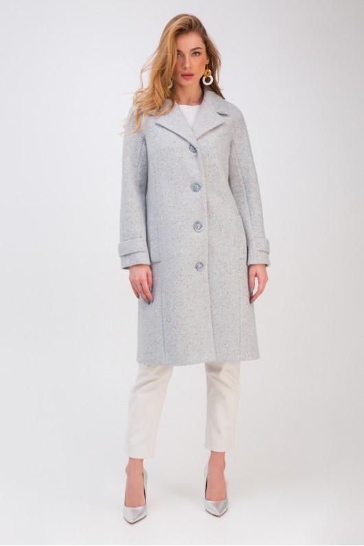 Демісезонне пальто сіро-блакитне   51742