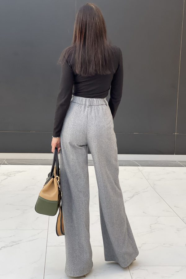 Демісезонні брюки-палаццо сірі   51490
