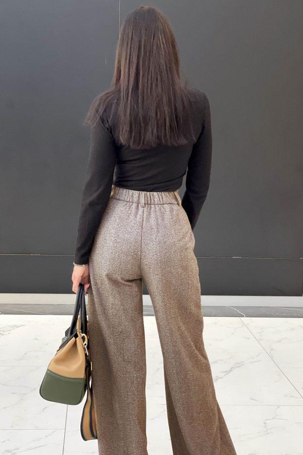 Демісезонні брюки-палаццо капучино   51502