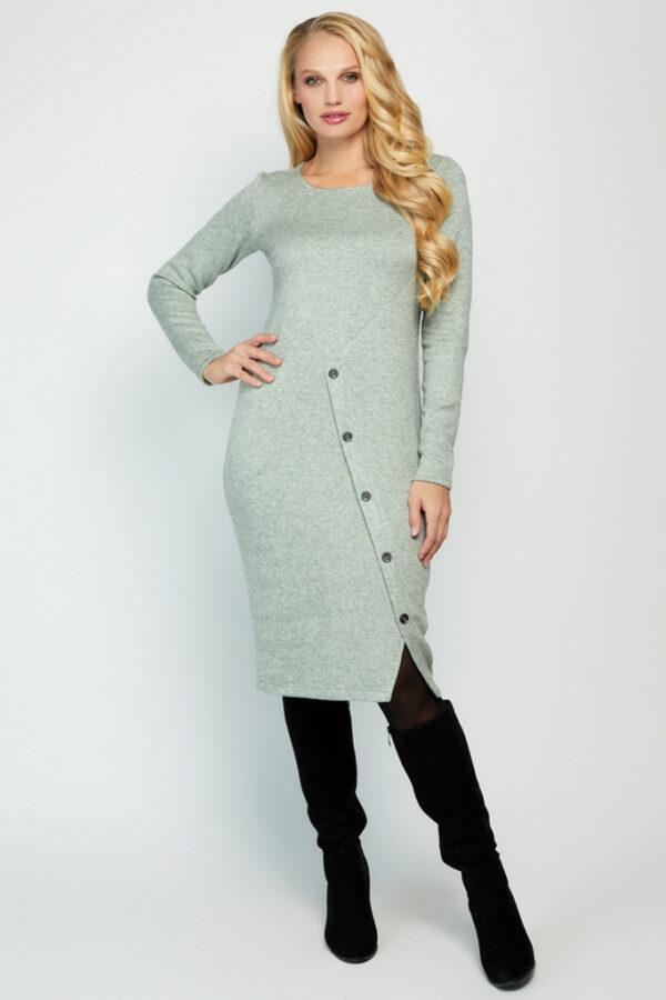 Трикотажна сукня оливкова   51888