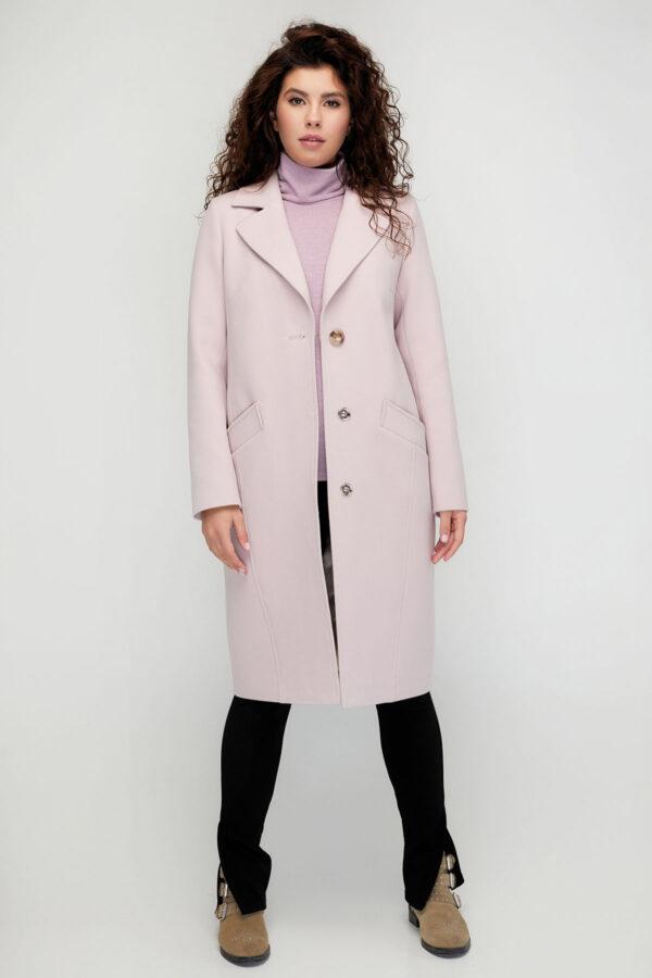 Демісезонне класичне пальто пудрове   51482